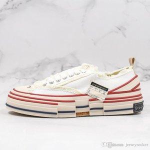 Luxe XVessel Hommes Femmes toile de haute qualité Chaussures Fashion Designer Rose Noir Blanc navire Tripes S paix, pas la vitesse Athletic Sneaker