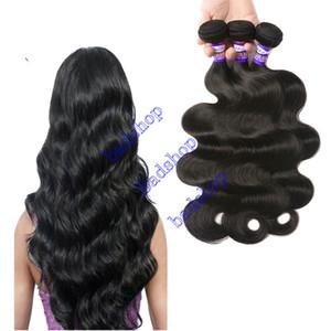 Commercio all'ingrosso 9A brasiliano dell'onda del corpo di capelli Bundles brasiliano non trattato Virgin estensioni dei capelli umani Wet and Capelli mossi brasiliano