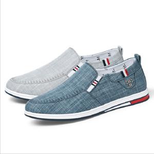 classica hombres zapatos ocasionales planos bajos azul para hombre zapatos de lona transpirable gris de los deportes zapatillas de deporte al por mayor del tamaño 40-44