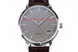 New SENADOR Men Watch Designer Relógios Cal.36-03 mecânico automático 28800 vph Big Data pulseira de couro cristal de safira aço inoxidável 316L
