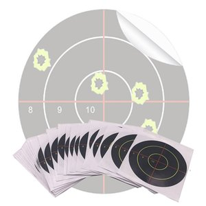 100 Pcs Lot Splatter Blossom Target Stickers, Pattern 8910 Cross, Diameter 3 Inch 7.5Cm, Outdoor Hunting Target Other Golf Products