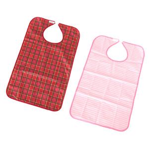 2Pcs Adults Clothing Protectors Bib Apron Reusable Waterproof Washable - Eating & Drinking Daily Feeding Aid