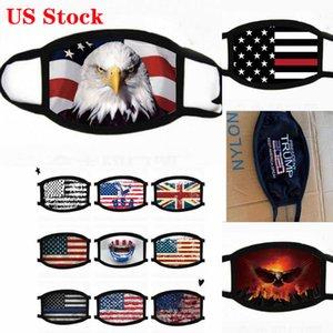 US STOCK, Designer Masque anti-poussière noire des vies Matière Je ne peux pas respirer pour Drapeau Coton Cyclisme Cartoon Trump Lavable Masques réutilisables en tissu