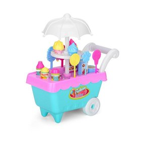 Children'S Simulation Candy Ice Cream Carts Girls Educational Toys Play House Suits Toy Role-Playing Toys