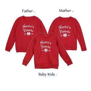 XMAS Anne Baba Bebek Çocuk Giyim Aile Eşleştirme Kıyafet Ebeveyn-çocuk Üst Giyim