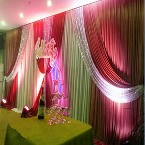 3m high*6m wide size wedding backdrop with sequins swags backcloth Party beautiful Curtain Stage curtain Background customized high quality
