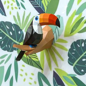 Papier 3D Modèle Toucan Papercraft Décor À La Maison Mur Décoration Puzzles Éducatifs DIY Enfants Jouets Cadeau D'anniversaire 887 SH190911