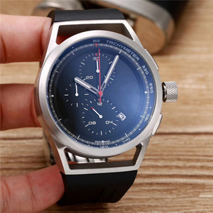 Sıcak satış spor İzle adam kuvars kronometre için üst satmak chronograph saatler kauçuk bilezik bilek İzle pd02
