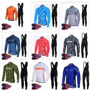 Strava ekibi Erkek Bisiklet uzun Kollu forması 9D önlük pantolon setleri Nefes Yolu yarış bisiklet giyim Ropa Ciclismo Sıcak satış S080711