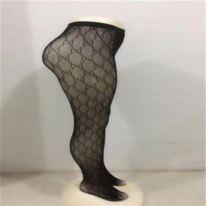Sexy Pantynose G donne superiori completa Lettera, Nero, Bianco Leggings Moda ragazza di marca Calze