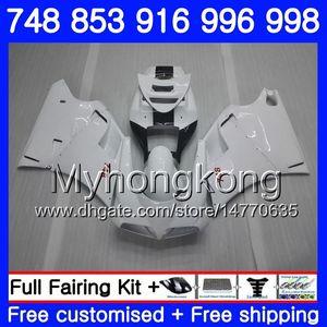Kit para DUCATI 748 853 916 996 998 S R Pearl White nuevo 94 95 96 97 98 327HM.6 748S 853S 916R 996R 998S 748R 1994 1995 1996 1997 1998 1998