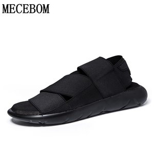Men's sandals summer fashion comfortable slip-on casual fabric sandals flat black slippers zapatillas hombre size 39-44 820m