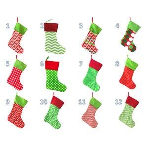Nuova Christmas Stocking ricamato personalizzato Calza sacchetto del regalo Xmas Tree Candy Ornamento Family Holiday Stocking HH9-2383