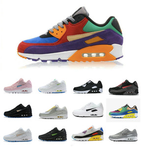 VIOTECH BE TRUE 2019 Hommes Femmes Sneaker classique 90 RUNNING QS Chaussures plage infrarouge Sports Sud Air Trainer Coussin Surface chaussure respirante