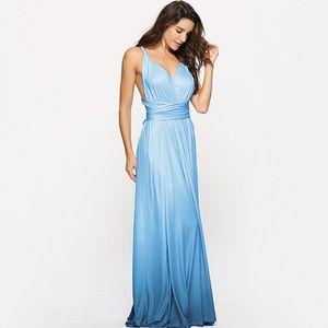 Women Multiway Wrap Long Dress Gradient Convertible Boho Maxi Bandage Dresses Party Bridesmaids Infinity Robe Longue Femme T200604