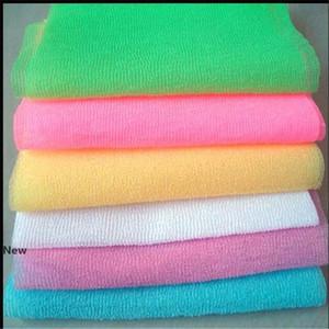 Nylon Mesh Douche Exfoliant Corps lavage propre Puff récurage serviettes en tissu épurateurs de bain Outils RRA2917
