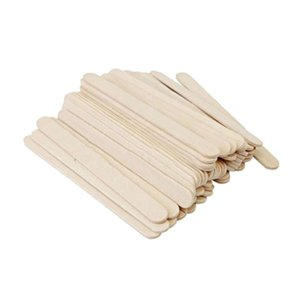 100pcs Wooden DIY Crafts Natural Colorful Wood Sticks DIY Popsicle Ice Cream Sticks Toys Food DIY Materials Party Decor A3