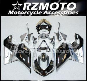Injection Mold New ABS Fairings Fit For Ducati 848 1098 1198 1098s 1098R EVO 2007 2008 2009 2010 2011 2012 Bodywork set Custom Black Gray