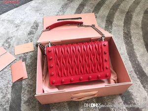 New pequeno quadrado saco de moda corrente de mão alça de ombro clássico jacquard em relevo da pele de carneiro saco Mensageiro barata preto Vermelho