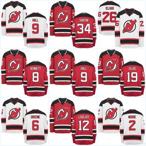 Maillots Devils du New Jersey pour hommes 9 Taylor Hall 12 Ben Lovejoy 19 Travis Zajac 26 Patrik Elias 16 Jacob Josefson Hockey Jerseys
