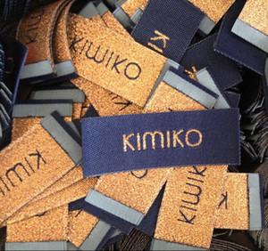 Etiqueta tejida de hilo de plata de oro metálico Etiqueta de aguja de hilo de lujo para ropa Etiquetas de ropa Etiqueta de costura Noción de costura