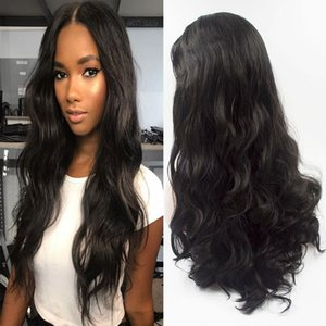 Loose Wave Synthetic Lace Front Wig Glueless Heat Resistant Fiber Hair Natural Hairline Middle Parting For Women Wigs