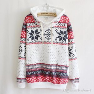 2020 점퍼 여성 패션 여성 눈송이 긴 소매 풀오버 니트 스웨터 여성 크리스마스 스웨터 S-XL 인쇄하기