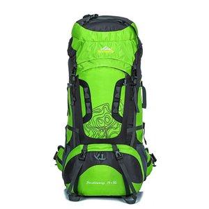 Высокое качество Backpacker Открытый Альпинизм Рюкзак 80Litre большой емкости 70 + 5л Climbing сумка Водонепроницаемый Туризм Рюкзаки