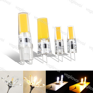 LED Ampuller COB G4 DC12V 3W G9 Silikon İç Aydınlatma Kristal Avize Kolye Spot Işık Eub Için
