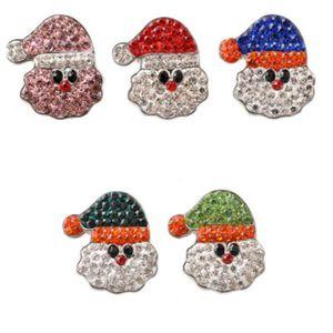 18 milímetros NOOSA botão Snap Jóias Papai Noel Ginger snap Papai Noel Pedaços Fit DIY snap Presente de Natal Pulseiras