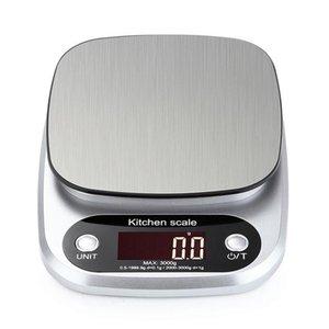 10kg / 1g 3 kg / 0.1g LCD electrónica de cozinha escalas de equilíbrio Household Cozinhar Medida Ferramenta de aço inoxidável Digital pesar a comida Escala G OZ ML