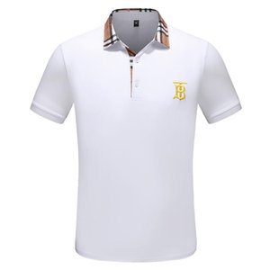 Neue Luxus-Designer-Polo-Hemden der Männer beiläufige Polos Mode Buchstabedruck Stickerei-T-Shirt High Street Mens Cotton Polos M-3XL