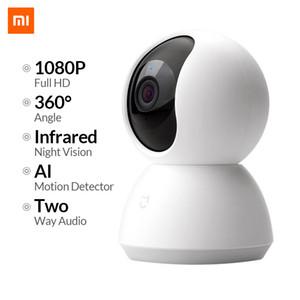 XIAOMI Mijia البسيطة كاميرا IP واي فاي 2MP 1080P HD الأشعة تحت الحمراء للرؤية الليلية 360 درجة اللاسلكية الذكية مي الأمن الرئيسية نظام كاميرا