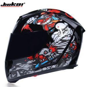 Capacete da motocicleta fresco Modular Moto Capacete Com Interior Viseira de Sol de Segurança Dupla Lente de Corrida Rosto Cheio do Casco Moto