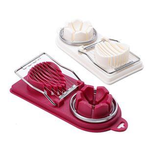 أدوات الطبخ أسلاك البيض القطاعة فرويتي البيض القاطع مطبخ التقطيع الأدوات مع الفولاذ المقاوم للصدأ كبيرة للشطائر السلطات المقبلات JK1911