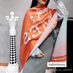 Für Frauen-Qualitäts-Frauen Doppel-F Brief Leopard Pashmina Schal neuesten Seidenschals Mode Kopftuch gedruckt