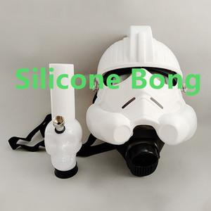 Bongo da água do silicone com os bongs do terno de Hookahn da tubulação acrílica da máscara de gás