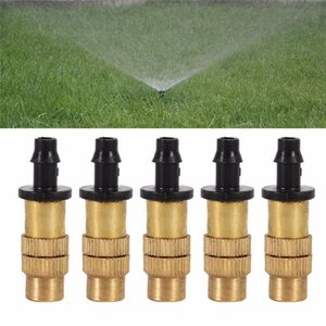 Adjustable Thread Copper Water Spray Automatic Atomizing Nozzle Brass Nozzle Nebulizer Garden Spray Head