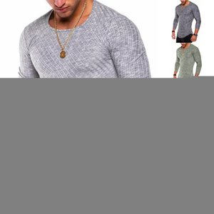 Summer Casual T shirts Extend Hip Hop Street T-shirt O Neck Men Long Sleeve Oversize Gray M-3XL
