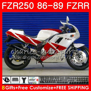 Кузов для YAMAHA fzr250r заводской белый горячий FZRR FZR 250R FZR250 86 87 88 89 123HM.30 FZR250RR FZR 250 FZR-250 1986 1987 1988 1989 набор Зализа