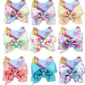 8 pouces Jojo Siwa Accessoires cheveux Bow Etoiles Fleur sirène dénudage avec strass clips filles Big Accessoires cheveux épingle à cheveux hairband