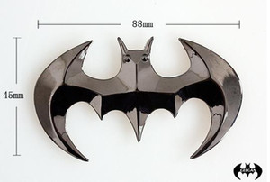 3D galvanizados bat adesivos de carro de metal dourado morcego Batman autocolantes corpo do carro adesivos