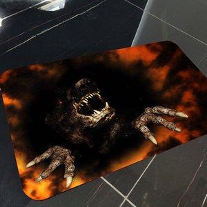 40x60cm Happy Halloween fantôme citrouille Taro Flanelle Tapis antidérapant Tapis 2019 haute capacité de soutien en gros Dropshipping