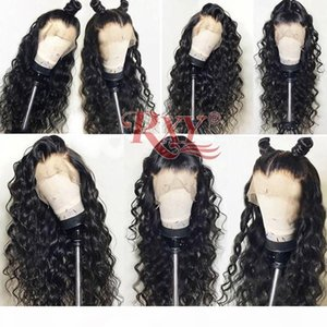 10a Grade Virgin Hair Peruvian Water Wave 360 Lace Wigs For Black Women No Tangle Curly 360 Full Lace Human Hair Wigs 10-26inch