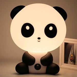 Подключи Детские Bedroom лампы Night Light Мультфильм Животные Panda Unicorn Sleep LED Kid колба лампы Настольные лампы для детей Подарки Warm Night Light