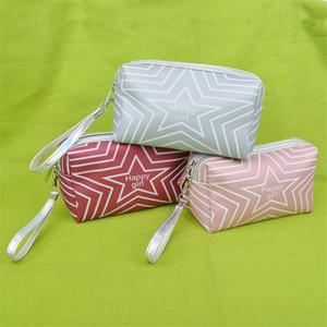 Bag disegno coreano cosmetici ragazze Portafoglio compongono sacchetti di immagazzinaggio impermeabile trucco Wash Bag Donne moneta portatile borsa da toilette Organizzatore vendita