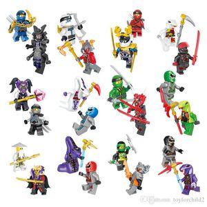 24 pcs Lot Mini Ninja Action Figure Toy Building Blocks Ghost Evil Ninja Pythor Chop'rai Mezmo Serpentine Army