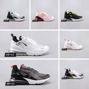 2019 gece Hava Koşu Ayakkabı Erkek / Bayan Buharı 270 Spor Ayakkabı Tasarımcısı Sneakers 270 Siyah Beyaz 3M Yansıtıcı Bukalemun Glow Kapalı