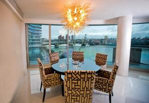 Villa Blown Glass Chandelier Murano Glass Art Pendant Lamps 100% Mouth Blown Borosilicate Wedding Home Decor