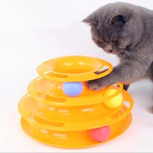 Drei Ebenen Haustier Katze Spielzeug Turm Tracks Disc Katze Intelligenz Amusement Triple Lohn Scheibe Katzenspielzeug Ball Trainings Amusement Platte